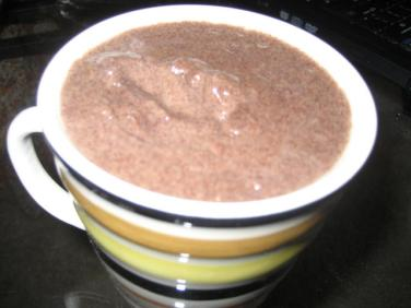 Mix 1 part sprouted ragi flour and 2 parts water, bring to a boil while stirring continuously. Video
