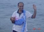 Vijay with sling