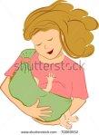 Nursing in sling.  Image: Shutterstock