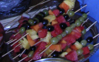 Colourful fruit sticks