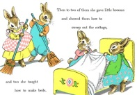 Scene from Du Bose Heyward, The Country Bunny and the Little Gold Shoes.