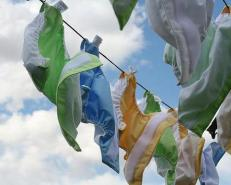 Diapers drying on the line. Source: Mother Nature Network