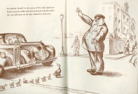 Scene from Robert McCloskey's Make Way for Ducklings