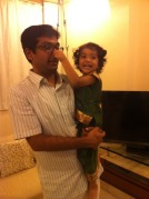 Kavya and her Poppy
