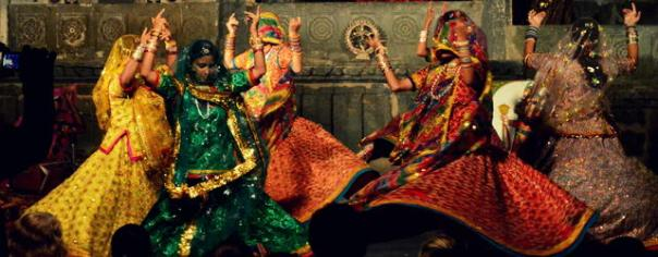 Kalbelia Dance to Honour Birth of a Child. Rajasthan.  Photo:  Namrata Neog
