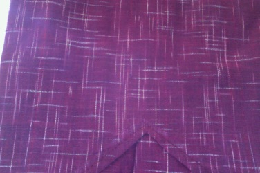 Maroon with white flecks Khadi