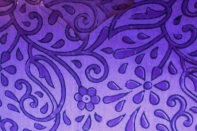 Purple floral block print