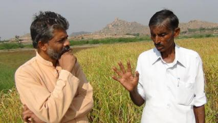 Dinesh hears from a farmer who grows three varieties of millet in Kadri