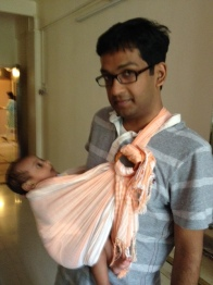 Rushabh Poppy with newborn Karthik in Mumbai