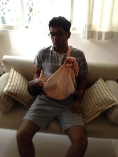 Rushabh Poppy with newborn Karthik in Mumbai
