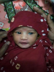Anand's newborn daughter Anagha.