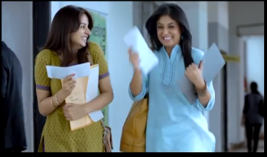 Women celebrate after passing job interviews, in an advertisement for Stayfree sanitary napkins.