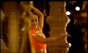 Bharatanatyam dancer in an advertisement for Whisper sanitary napkins.