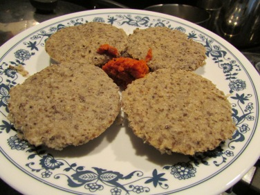 Idlis made from proso millet and urad dal. Served with pulihara avakayi.
