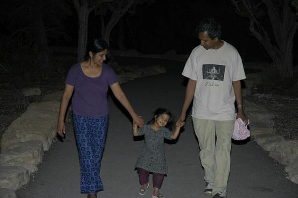 Walking at Yavapai point after sunset. July 2005
