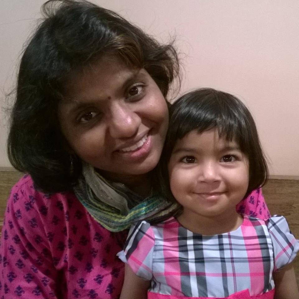 The author and her daughter, Navya.