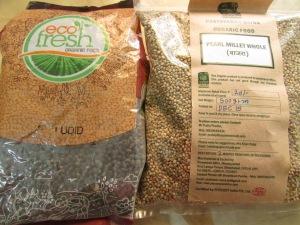 Bajra from Paryavaran Mitra (at Farmers' Market) and Urad from EcoFresh (via Chembur)