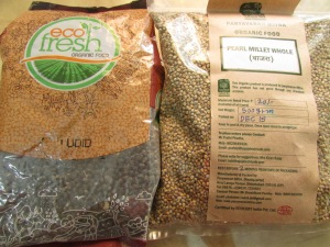 Bajra from Paryavaran Mitra (at Farmers' Market) and Urad from EcoFresh (via Chembur)