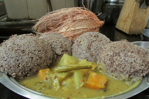 ragi idli with sambar