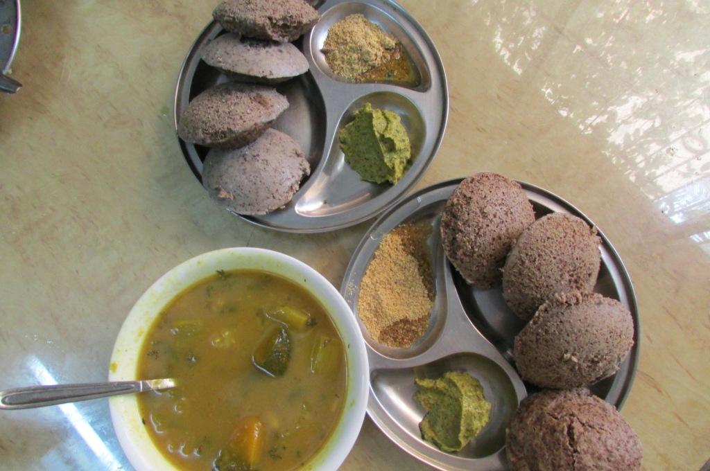 Tri-Millet Idli - made of Ragi, Sama and Proso millet along with Urad (Black Gram).